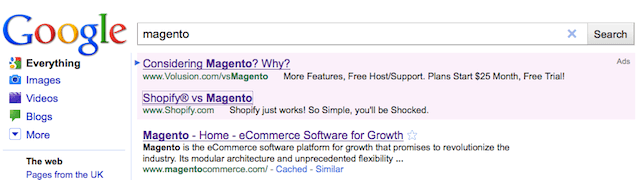 Magento - Google Sponsored Listings